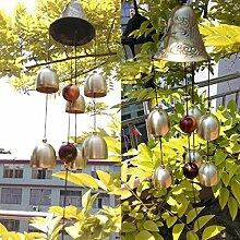 Gazechimp Metall Windspiel Glocke Haus Garten Flur Fenster Dekoration - Rasseln, 58cm