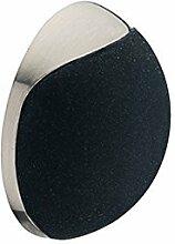 GedoTec® Design Wand-Türpuffer Türstopper SKYO für Wandmontage | Gummi: weiß | Stopper mit Ø 38 mm | Höhe: 15 mm | Wandpuffer selbstklebend oder zum Schrauben | Gummi-Puffer Edelstahl-Finish | Markenqualität für Ihren Wohnbereich