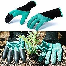 Generic 2017Garten Handschuhe mit Fingerspitzen Krallen Schnell leicht zu graben und die Pflanze Sicher für Rose Beschneiden Handschuhe Fäustlinge Graben Handschuhe