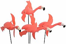 Generic attraktives rot Kunststoff Flamingo Garten Dekoration für Home Indoor Outdoor accessories-4Farbe