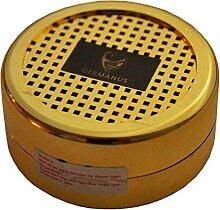 GERMANUS Humdior Befeuchter Gold für Zigarren, Tabak, Pfeifentabak und Zigarrettentabak