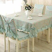 GJ&H Moderne einfache Garten Wind Jacquard Polyester Faser Bogen Spitze rechteckigen Tisch Tuch Kaffee Tuch fühlen sich bequem Senkung gute Dekoration Küche Esszimmer Tischdecke,B,150*150cm