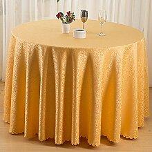 GJ&H Moderne einfache Garten Wind Polyester Faser Runde Tischdecke fühlen sich bequem natürliche dicke vertikale Gefühl gut atmungsaktiv haltbar Keine Falten Dekoration Küche Esszimmer Tischdecke,A,diameter180cm