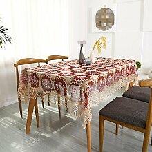 GJ&H tablecloth Europäischen Stil Garten Stickerei hohle Glas Garn Spitze rechteckigen Esstisch Tuch Couchtisch Tuch langlebig Umwelt atmungsaktiv Absacken gute Küche Esszimmer Tischdecke,A,70*70cm(2pcs)
