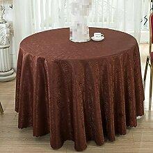 GJ&H tablecloth Moderne einfache Garten Wind Runde Tischdecke fühlen sich wohl und umweltfreundliche Gesundheit atmungsaktiv drapieren gut Keine Falten Küche Esszimmer Tischdecke,A,diameter300cm