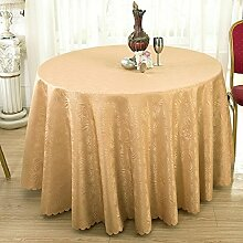 GJ&H tablecloth Moderne einfache Garten Wind Runde Tischdecke fühlen sich wohl und umweltfreundliche Gesundheit atmungsaktiv drapieren gut Keine Falten Küche Esszimmer Tischdecke,C,diameter320cm