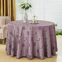 GJ&H tablecloth Moderne einfache Garten Wind Runde Tischdecke 100% Baumwolle bequeme natürliche drapieren gute dicke dauerhafte Reinigung Dekontamination Dekoration Küche Esszimmer Tischdecke,B,diameter360cm