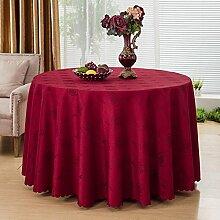 GJ&H tablecloth Moderne einfache Garten Wind Runde Tischdecke 100% Baumwolle bequeme natürliche drapieren gute dicke dauerhafte Reinigung Dekontamination Dekoration Küche Esszimmer Tischdecke,A,diameter380cm
