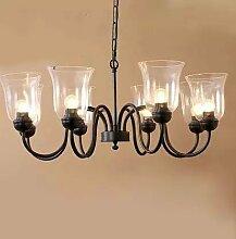 Global-US-amerikanischer Country Wohnzimmer Kronleuchter Restaurant Lampen Schlafzimmer Lampen Studie Lampe modernen minimalistischen Garten Schmiedeeisen-Lüster