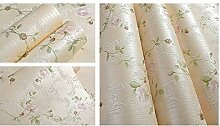 Grüne romantische Garten Blumentapete/warm Schlafzimmer Tapeten/Living Wall/Vliestapete-D