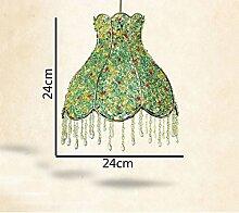 Hand-woven Lampenschirm Eisen Kronleuchter Plexiglas kleinen Garten, grün, blau LED-Kronleuchter Kronleuchter kreativ ( farbe : Sonstiges Grün )