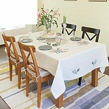 Handgeschöpfte Baumwolle Tischdecke/ Mode Runde Tischdecke/Tischdecke decke/ Garten bestickte Tischdecke/ längste Tischdecke-A 150x150cm(59x59inch)