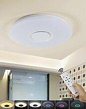 Handy APP-Fernbedienung LED Runden Deckenlampe 15W Deckenbeleuchtung Modern Deckenleuchten warmweiß kaltweiß neutralweiß mit Fernbedienung dimmbar Wandlampe