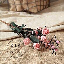 Hochzeit Dekoration DIY Home Garten Künstliche Blumen?12 Kopf emulation Rosa, Pink