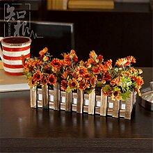 Hochzeit Dekoration DIY Home Garten Künstliche Blumen Blume Zaun?emulation Blume, orange (Farbe)