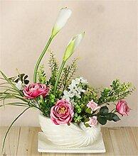 Hochzeit Dekoration DIY Home Garten Künstliche Blumen Blumen?Blumenschmuck mit Set, weiß