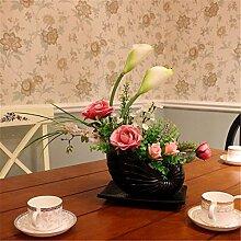 Hochzeit Dekoration DIY Home Garten Künstliche Blumen Blumen?Blumenschmuck mit set, blau