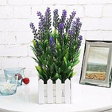 Hochzeit Dekoration DIY Home Garten Künstliche Blumen?die Emulation der Pflanze Lavendel Lila Blumen, Zaun, Zaun, 10cm