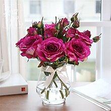 Hochzeit Dekoration DIY Home Garten Künstliche Blumen?Die emulation Rose Blume, Lila
