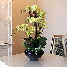 Hochzeit Dekoration DIY Home Garten Künstliche Blumen?Die Motten Orchidee mit Vase, Schmetterling blau grün schwarz Waschbecken