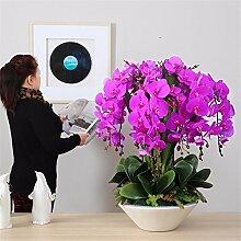 Hochzeit Dekoration DIY Home Garten Künstliche Blumen?Emulation Blumenvase Phalaenopsis Brautstrauß Paket C PU (Phalaenopsis