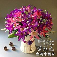 Hochzeit Dekoration DIY Home Garten Künstliche Blumen?Emulation Flower Art Deko Set, mauve