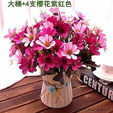 Hochzeit Dekoration DIY Home Garten Künstliche Blumen?Emulation, geblümte Einrichtung, die Kirschblüten + aubergine