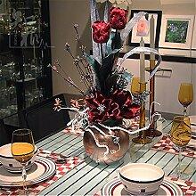 Hochzeit Dekoration DIY Home Garten Künstliche Blumen?Emulation Blume continental Set, Rot