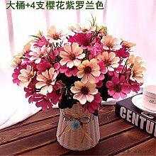 Hochzeit Dekoration DIY Home Garten Künstliche Blumen?Emulation, geblümte Einrichtung, die Kirschblüten + Violett