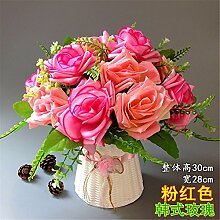 Hochzeit Dekoration DIY Home Garten Künstliche Blumen?Emulation, geblümte Einrichtung, Rosa + Koreanische Rose