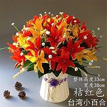 Hochzeit Dekoration DIY Home Garten Künstliche Blumen?Emulation Flower Art Deko Set, Orange