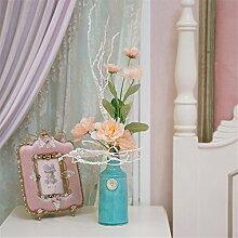 Hochzeit Dekoration DIY Home Garten Künstliche Blumen?Emulation Blume künstliche Blumen, Champagner Farbe blaue Flasche