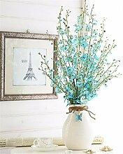 Hochzeit Dekoration DIY Home Garten Künstliche Blumen?Emulation Blume tanzen Blau, Blau Dendrobium Flaschen