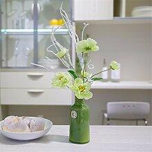 Hochzeit Dekoration DIY Home Garten Künstliche Blumen?Emulation Blume künstliche Blumen, grün grüne Flasche