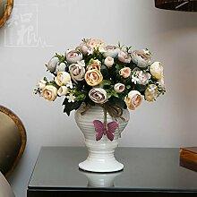 Hochzeit Dekoration DIY Home Garten Künstliche Blumen?Hohe emulation Blume, Abschnitt F, Champagner Farbe