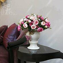 Hochzeit Dekoration DIY Home Garten Künstliche Blumen?Hohe emulation Blume, Champagner Auswahl von Rot