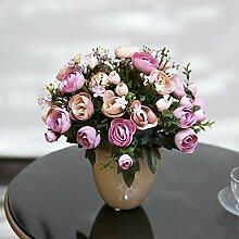 Hochzeit Dekoration DIY Home Garten Künstliche Blumen?Hohe emulation Blume, die üblichen zongzi, Violett