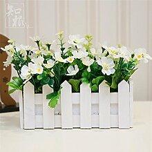 Hochzeit Dekoration DIY Home Garten Künstliche Blumen?Kleine Kirschblüten emulation Blume set, 20cm() B)
