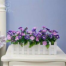 Hochzeit Dekoration DIY Home Garten Künstliche Blumen?Kleine Kirschblüten emulation Blume, 30cm Set (Lila)