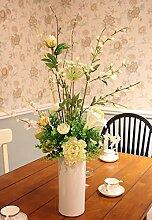 Hochzeit Dekoration DIY Home Garten Künstliche Blumen Rosen?Arts set plus weißes Porzellan vase