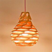 Holz, kreative Schmuck Air Charm Nest Modellierung Lampenschirm Lampe Shell & Garten Schlafzimmer Zubehör