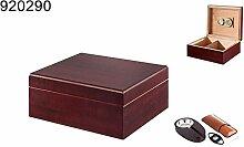 Humidor Geschenk Set dunkelrot 20-35 Zigarren