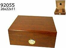 Humidor Polymerbefeuchter Zigarren Box rotbraun 20-35 Zigarren