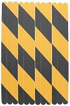 HuntGold 12 Stück Rutschfest Bad Aufkleber Duschstreifen Pad Bodenbelag Sicherheitsband Matte Applikation Schwarz und orange