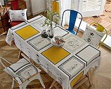 HXC Home beige Tischdecken Tischtuch Baumwolle leinen Skandinavisch Esstisch Rezeption rechteckigen Quadrat Nicht bügeln umweltfreundlich Garten