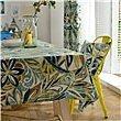 HXC Home blau Grün Blatt Blumenmuster Geblümt Tischdecken Tischtuch Baumwolle leinen Amerikanisch Esstisch Rezeption rechteckigen Quadrat Nicht bügeln umweltfreundlich Garten