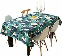 HXC Home Grün Pflanze Blumen Geblümt Tischdecken Baumwolle leinen Amerikanischen Landhausstil h Esstisch Rezeption rechteckigen Square nicht bügeln umweltfreundlich garten Tischtuch