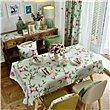 HXC Home Türkis Grün Blumenmuster Geblümt Tischdecken Tischtuch Baumwolle leinen Amerikanisch Esstisch Rezeption rechteckigen Quadrat Nicht bügeln umweltfreundlich Garten
