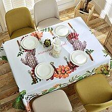 Jhxena Einfachen Stil Tischdecke Cartoon Muster Baumwolle Und Leinen Kaffee Tisch Decken, Garten, 140 * 140 Cm