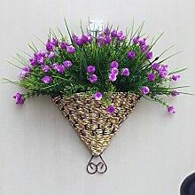 jhxena Garten Stil an der Wand hängenden Blumenkörben kit lila rose Diamond